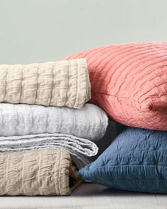 Great Eileen Fisher Rippled Organic Cotton Coverlet And Shams
