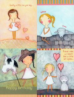 My girls have made it to greeting cards! | Carla Sonheim