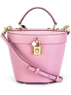 DOLCE & GABBANA Small Lizardskin Effect Basket Tote. #dolcegabbana #bags #shoulder bags #hand bags #leather #tote #