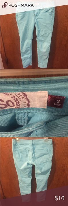 Pretty turquoise pants Wore a few times. In great condition. No stains. Size 3. Any questions please ask. Pants