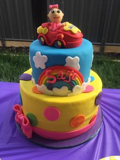Happy Birthday, Sage! An incredible cake! #thewiggles #wigglyparty #wigglesparty #partyideas #wigglescake #wigglesbirthday