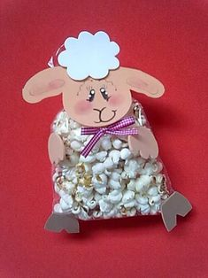 Souvenirs o detalles especiales para fiestas infantiles. Take note of these ideas to give small details or souvenirs with candy, balloons or candy at children's parties. Kids Crafts, Sheep Crafts, Easter Crafts, Diy And Crafts, Diy Ostern, Happy Eid, Farm Party, Ideas Para Fiestas, Kids Church