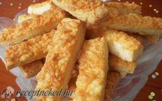 Szalalkális sajtos rúd (édesanyám receptje alapján) recept fotóval Onion Rings, Rum, Bakery, Sweets, Bread, Snacks, Cookies, Ethnic Recipes, Desserts