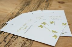 Sprig favour tags in moss green by gooseberrymoon  #stationery