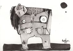 Sub Lunam No. 2  Ink Drawing on Paper by mellonfineart on Etsy, $50.00