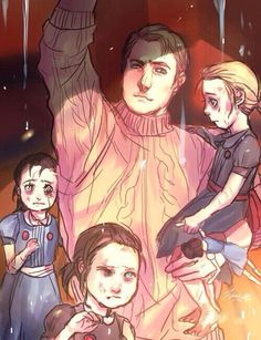 Jack Ryan and the Little Sisters. Is that Sally he's holding? :')