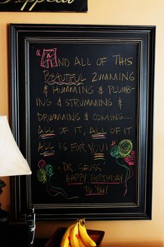 Seuss Party--Chalkboard Quote for party