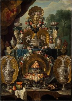 Alexandre François Desportes    French, 1661-1743    Still life with Silver     Metropolitan Museum of Art