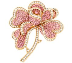 Product image of Joan Rivers Hearts & Flowers Pave' Brooch