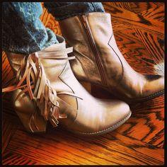 #Wittner #boots #metallic #tassel #fringe