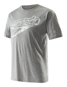 Speedo Mens T-Shirt Short Sleeve Crew Neck Graphic Manufacturer Discontinued
