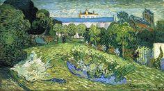 "Vincent van Gogh, ""Daubigny's Garden (with cat)"", oil on canvas, 50.0 x 101.5 cm, between July 17 and 23, 1890.  Fondation Rudolf Staechelin, Basel, Switzerland."
