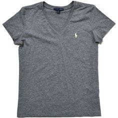 Ralph Lauren Women's Sport V-Neck T-Shirt ($20) ❤ liked on Polyvore featuring tops, t-shirts, v-neck tops, ralph lauren, ralph lauren t shirts, v neck tee and vneck t shirts