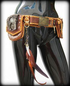 Gypsy Medieval Steam Punk Utilty Belt by ahniradvanyi on Etsy, $278.00
