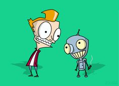 Zim/Gir-esque Fry and Bender. Hilarious because Billy West was the voice of Zim in the unaired original pilot. It's possible I watch entirely too many cartoons.