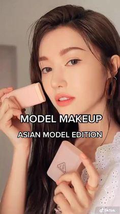 Asian Makeup Looks, Korean Natural Makeup, Korean Makeup Look, Asian Eye Makeup, Korean Makeup Products, Bts Makeup, Korea Makeup, Skin Makeup, Ulzzang Makeup Tutorial