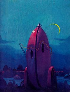 sciencefictiongallery:  Paul Lehr - Earth is room enough, 1957.
