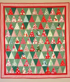 Diary of a Quilter - a quilt blog: Kitschy Christmas Quilt