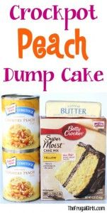 Crockpot Peach Dump Cake Recipe - from TheFrugalGirls.com
