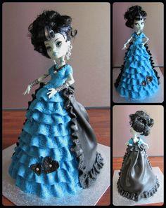 Monster High cake, doll cake.