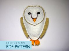 Easy to sew felt PDF pattern. DIY Vincent the by Phoraminiphera