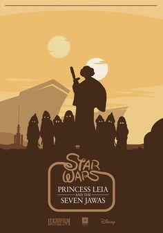 Princess Leia and the Seven Jawas
