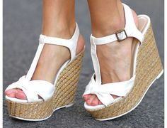 White Wedge Heels | Beach Bum | Pinterest | White Wedge Heels ...