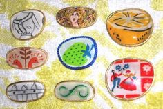 DIY Brooches from Old Recycled Eyeglass Lenses Jewelry Art, Beaded Jewelry, Charm Jewelry, Jewelry Ideas, Jewlery, Eyeglass Lenses, Arts And Crafts, Diy Crafts, Brooches Handmade