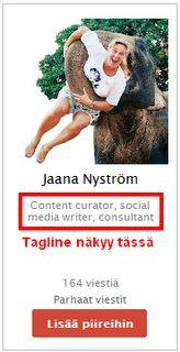 PIIREIHIN PÄÄSYN PERUSASIAT:  Kun Google+:ssa siirrät hiiren osoittimen jonkun käyttäjän nimen päälle tulee näkyviin hovercard tai 'käyntikortti'. Kortin kuvaa tai nimeä klikkaamalla pääset henkilön tai yrityssivun profiiliin, Viestit -sivulle.