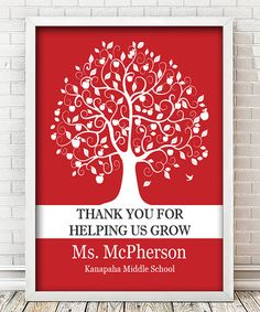 Look at this Teacher Tree Personalized Print on #zulily today!