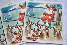 Love Vintage Cowboy Christmas Cards?