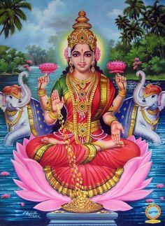 Painting of Hindu Goddess Lakshmi