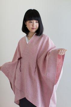 Sousou / Kisaragi Poncho Linen Sakura