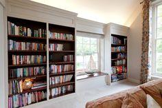 boekenkast wit met kersen / bookcase painted white and cherry