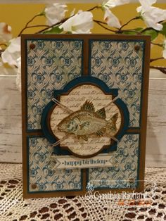 Ink-a-Doodle Creations: Fish'n with Masculine Monday!