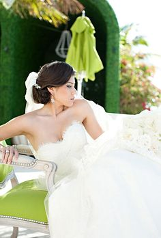 Romantic Wedding Hairstyle Idea: Low Chignon