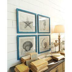 Sada 4 dekorací na stěnu s dřevěným rámem Orchidea Milano Marina, 41x41cm