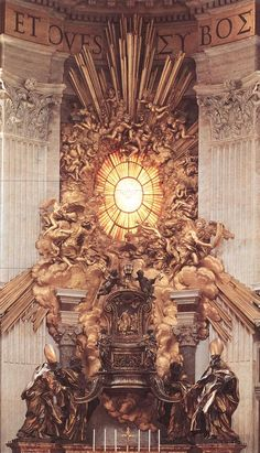 The alter used for everyday services in St. Peter's Bacilica, work by Bernini 1657-66