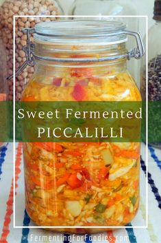 Fermented piccalilli is an Indian spiced sauerkraut. It can be eaten salty or sweet like a relish. Monte Cristo Sandwich, Fermentation Recipes, Canning Recipes, Kefir, Piccalilli Recipes, Sauerkraut Recipes, Vegetable Seasoning, Healthy Recipes, Healthy Food