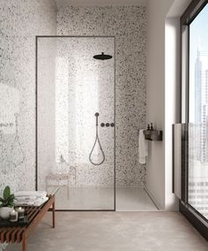 Bathroom Inspiration, Home Interior Design, Modern Home Interior Design, Bathroom Interior, House Interior, Terrazzo, Bathroom Wall Coverings, Bathroom Design Inspiration, Interior