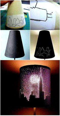 abat jour personnalis lampes abat jour customiser abat jour et bricolage. Black Bedroom Furniture Sets. Home Design Ideas