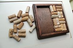 Wine Cork Trivet Kit  Reclaimed wood DIY craft kit
