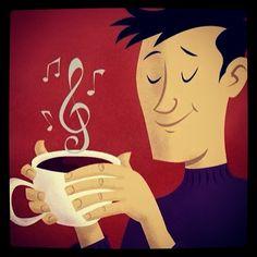 Cafe y musica para trabajar… #coffeebreak #coffeetime #atwork #music