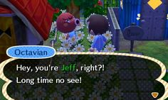 Visiting a former villager in a dream of his current town. #animalcrossing