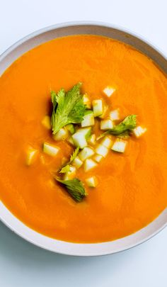 Celery root and carrot soup recipe: A spin on the classic carrot-ginger soup.