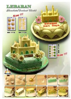 Ramadan Mosque Structure Chocolate Cookie Cake Moulds
