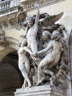The Paris Opera House Carpeaux, Paris Opera House, Art And Hobby, Architectural Sculpture, Gothic Aesthetic, Art Sculpture, Arte Popular, Land Art, Beautiful Architecture