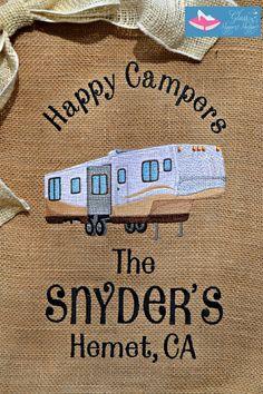 Custom Monogrammed Burlap Camping Garden Flag FREE Personalization