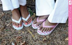 Pink Flip Flops for Breast Cancer - $35 $10 from each pair is donated #charity #gooddeed #shoes #flipflops #summer