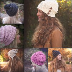 Loom Knit Bulky Hat PATTERNS Earflap Hat Lace by ThisMomentisGood